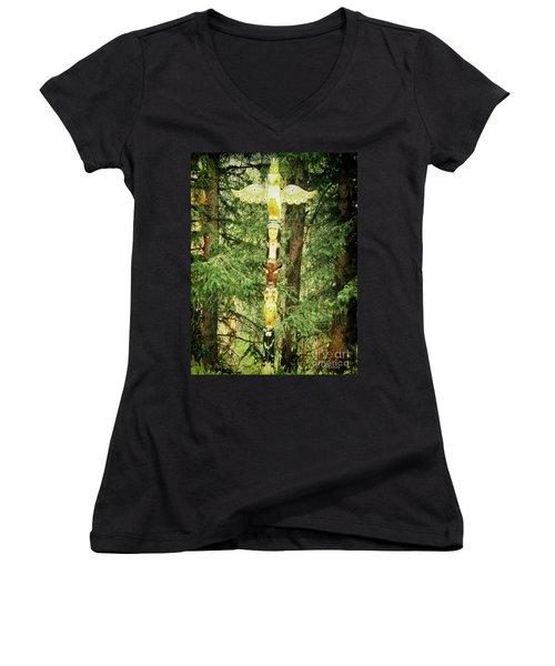 Totem Pole Women's V-Neck T-Shirt