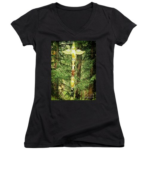 Totem Pole Women's V-Neck (Athletic Fit)