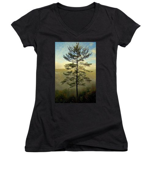 Towering Pine Women's V-Neck (Athletic Fit)