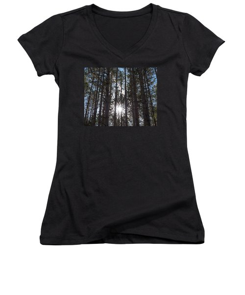 Towering Pines Women's V-Neck (Athletic Fit)