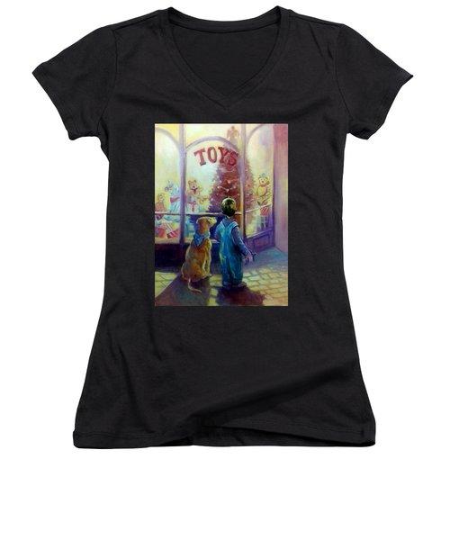 Toy Shop Women's V-Neck T-Shirt