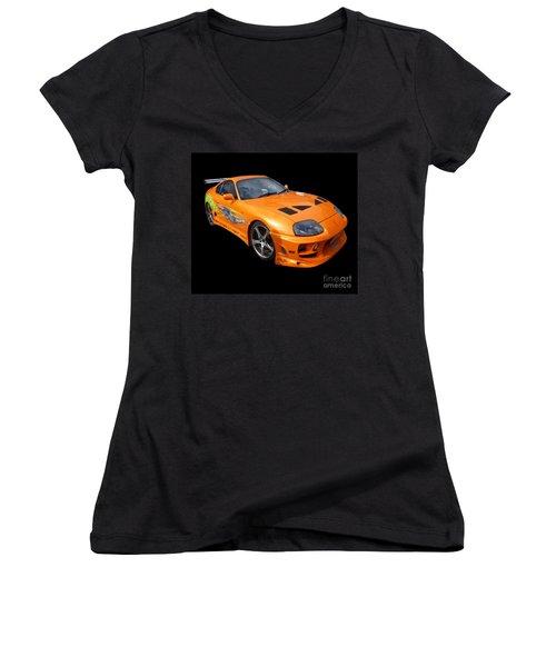 Toyota Supra Women's V-Neck T-Shirt