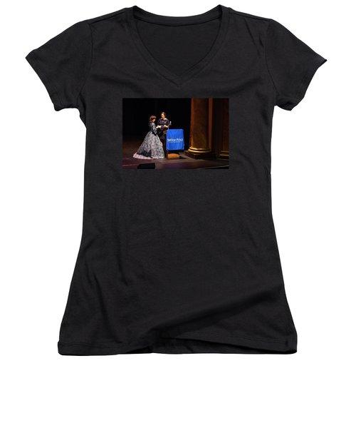 Tpa034 Women's V-Neck T-Shirt