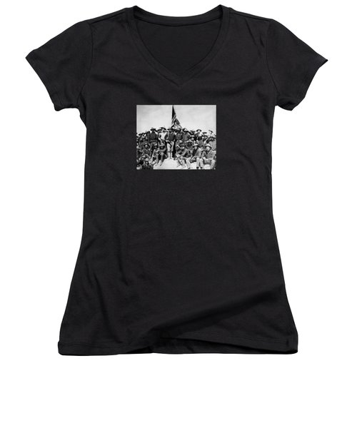 Tr And The Rough Riders Women's V-Neck (Athletic Fit)
