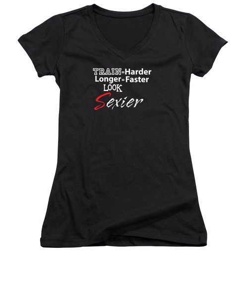 Train Harder Women's V-Neck (Athletic Fit)