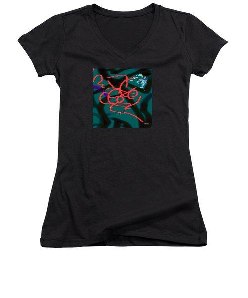 Transformation  Women's V-Neck T-Shirt (Junior Cut) by Robert Henne
