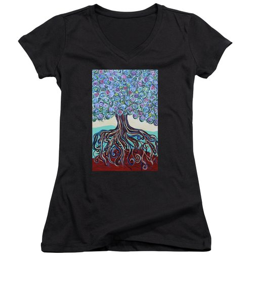 Tree Of Life-spring Women's V-Neck (Athletic Fit)