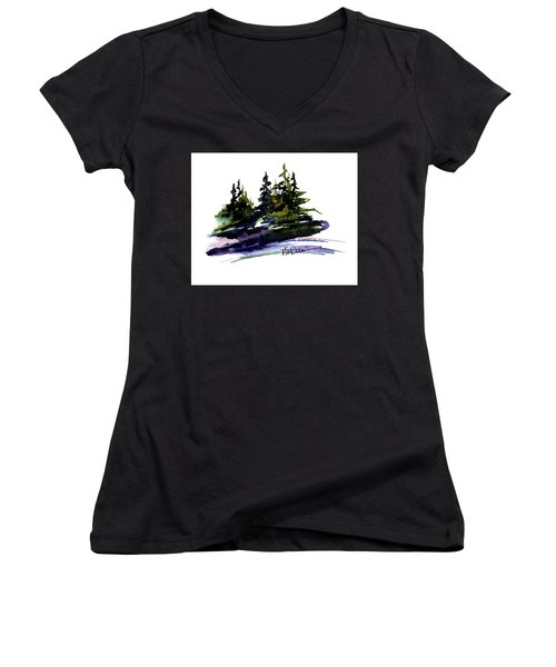 Trees Women's V-Neck T-Shirt