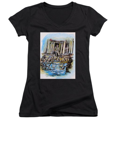 Trevi Fountain, Rome Women's V-Neck
