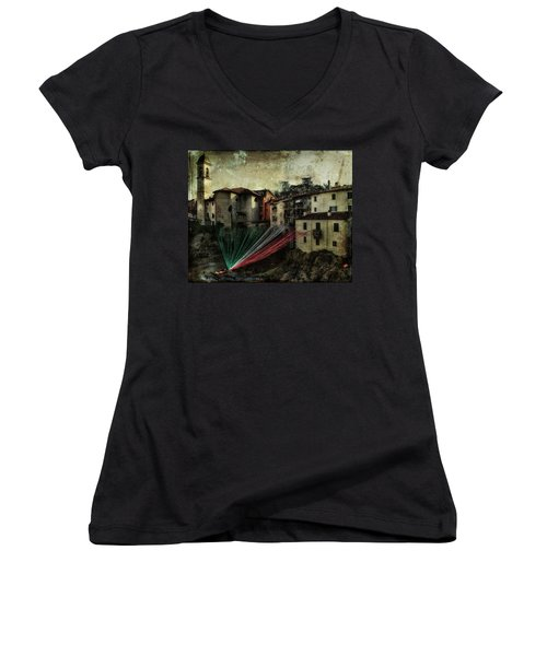 Tribute To Italy Women's V-Neck