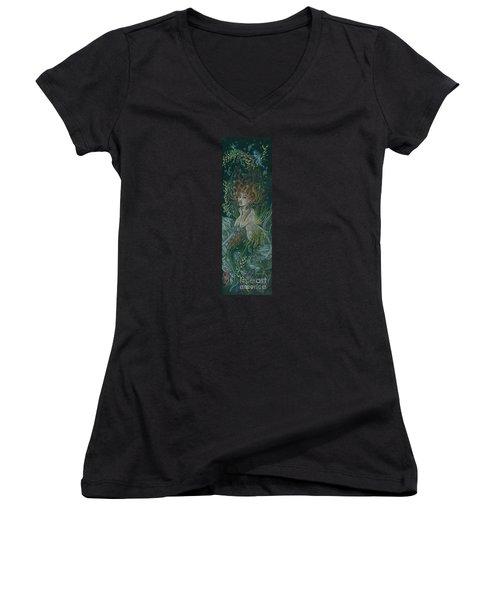 Triumph Escapes Maximilian's Arch Women's V-Neck T-Shirt (Junior Cut) by Dawn Fairies