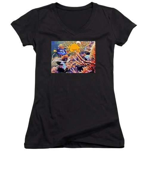 Tropical Fantasy Women's V-Neck