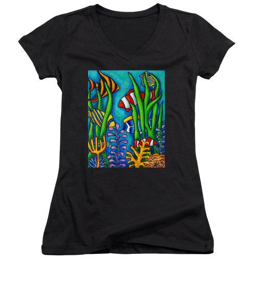 Tropical Gems Women's V-Neck (Athletic Fit)