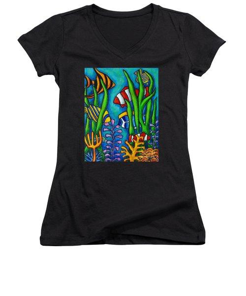 Tropical Gems Women's V-Neck T-Shirt