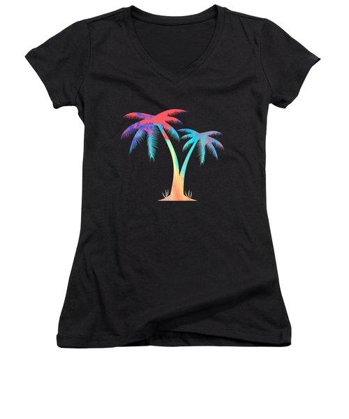 Tropical Palm Trees Women's V-Neck