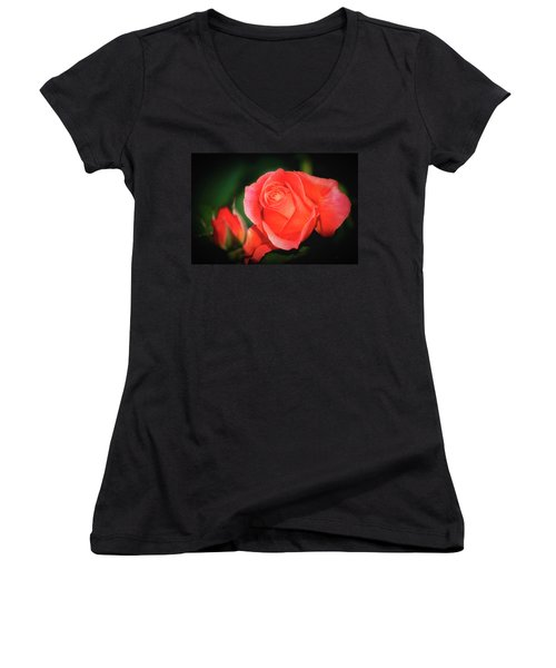 Tropicana Rose Women's V-Neck T-Shirt