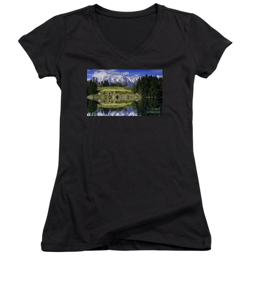 Truly Remarkable Women's V-Neck T-Shirt (Junior Cut) by Kym Clarke