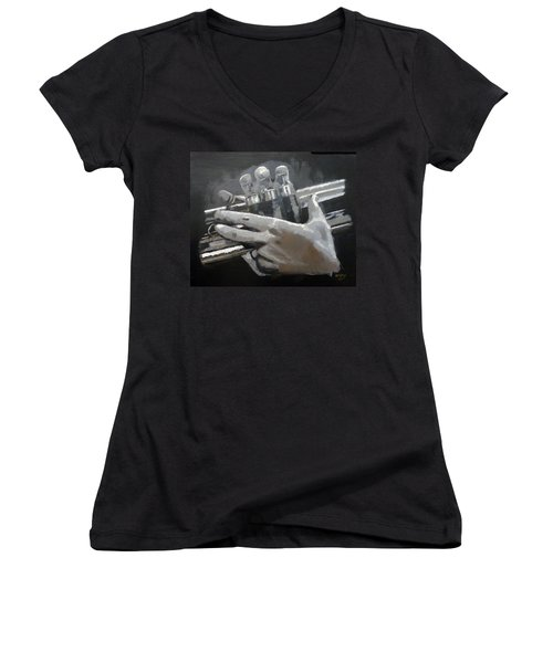 Trumpet Hands Women's V-Neck