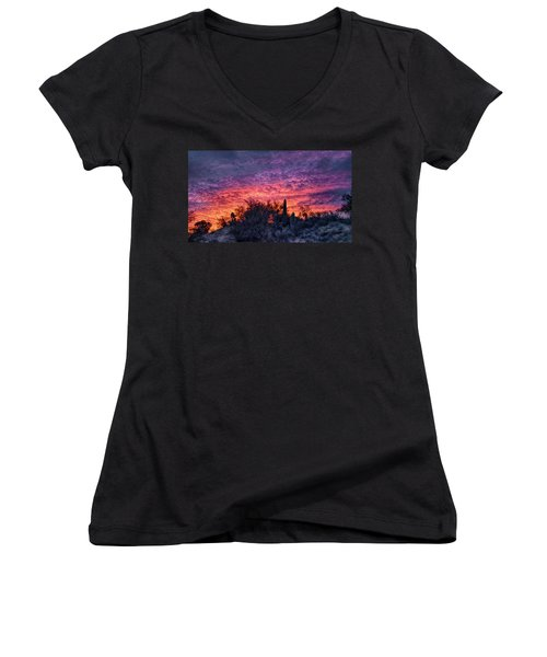 Tucson Sunrise Women's V-Neck (Athletic Fit)
