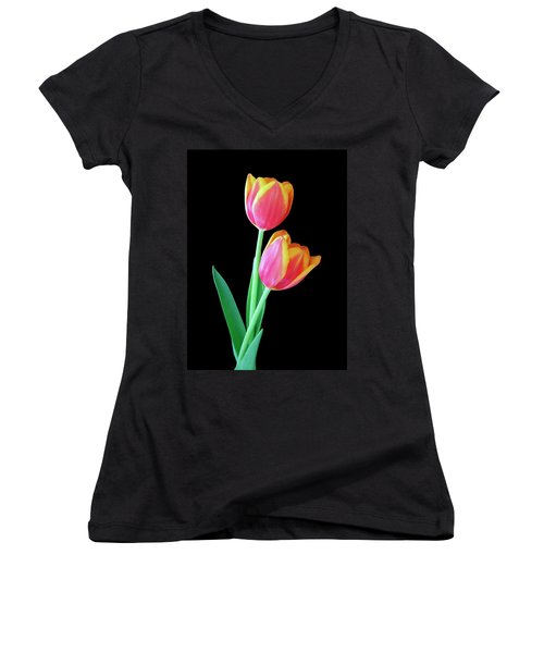 Tulip Duo Women's V-Neck (Athletic Fit)