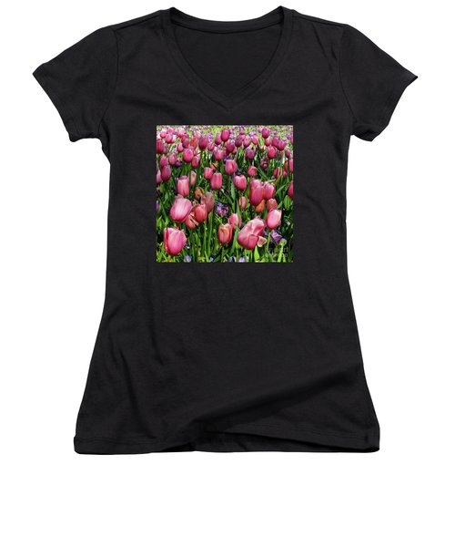 Tulip Flowers  Women's V-Neck