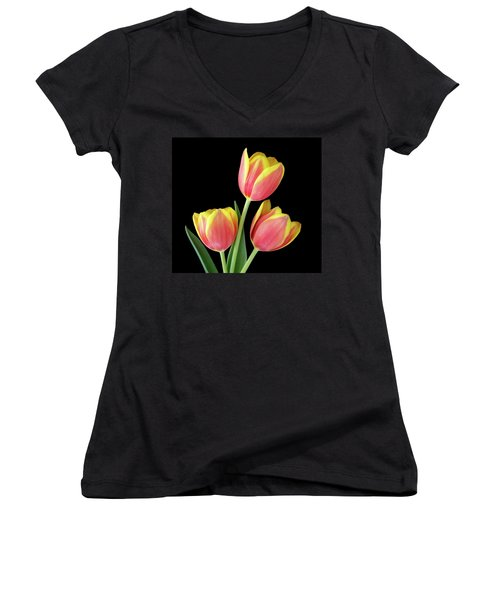 Tulip Passion Women's V-Neck (Athletic Fit)