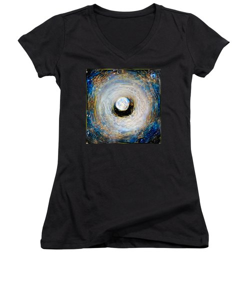 Tunnel To The Moon Women's V-Neck (Athletic Fit)