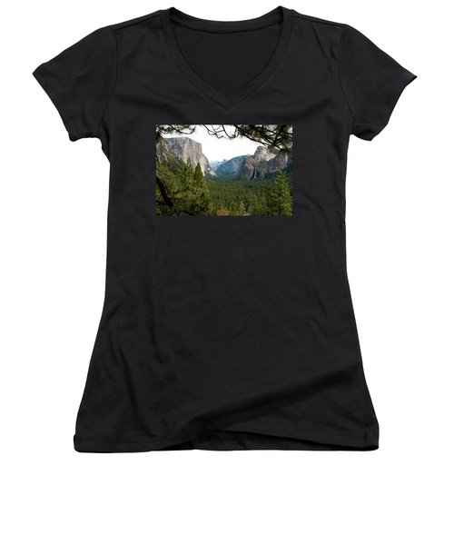 Tunnel View Framed Women's V-Neck (Athletic Fit)