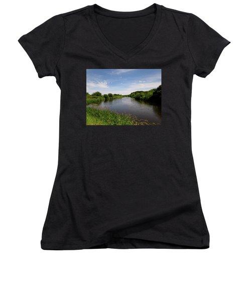 Turtle Creek Women's V-Neck T-Shirt (Junior Cut) by Kimberly Mackowski