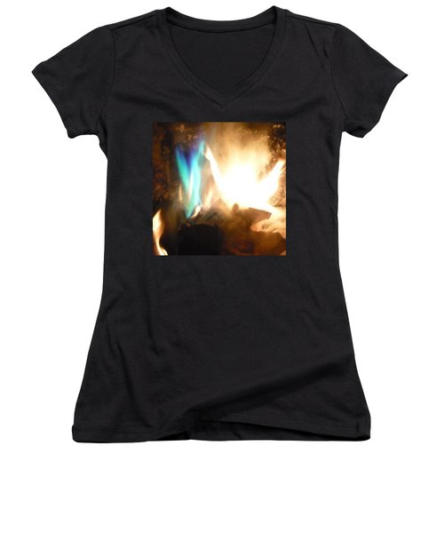 Twin Flame Women's V-Neck