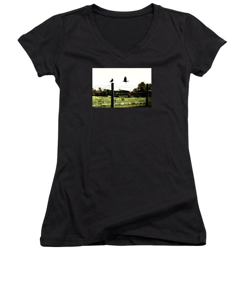 Two Birds Women's V-Neck (Athletic Fit)