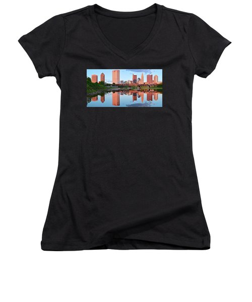 Women's V-Neck T-Shirt (Junior Cut) featuring the photograph Two Of Everything by Frozen in Time Fine Art Photography