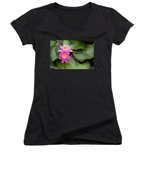Two Pink Lilies Women's V-Neck