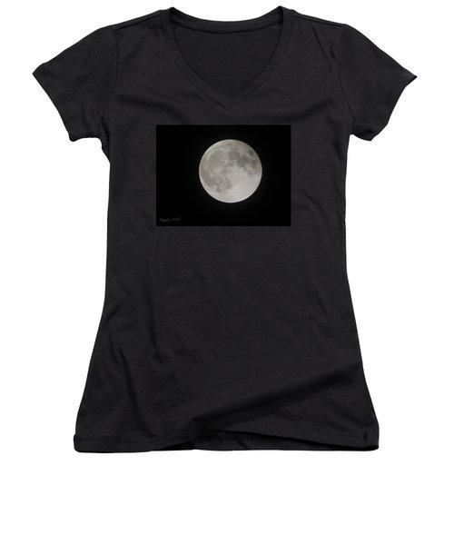 Two-tone Gray Moon Women's V-Neck