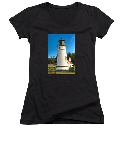 Umpqua River Lighthouse Women's V-Neck (Athletic Fit)