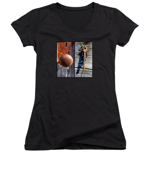 Under Lock And Key Women's V-Neck T-Shirt
