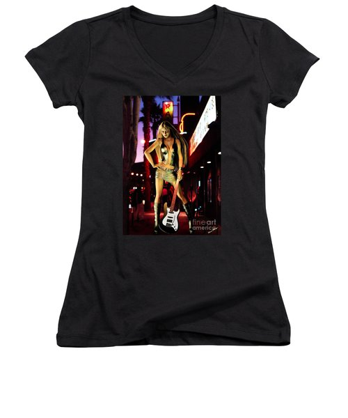 Under The Rainbow  Women's V-Neck (Athletic Fit)