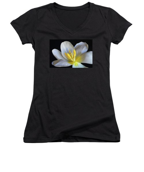 Unfolding Tulip. Women's V-Neck (Athletic Fit)