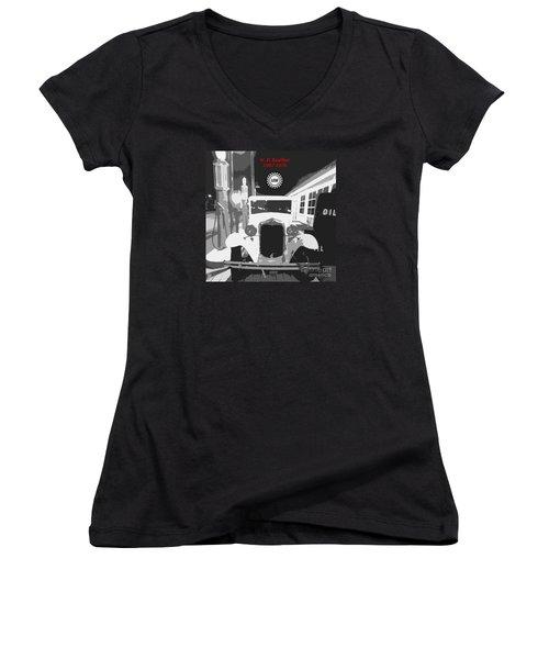 Union Made Women's V-Neck T-Shirt (Junior Cut) by Barbie Corbett-Newmin