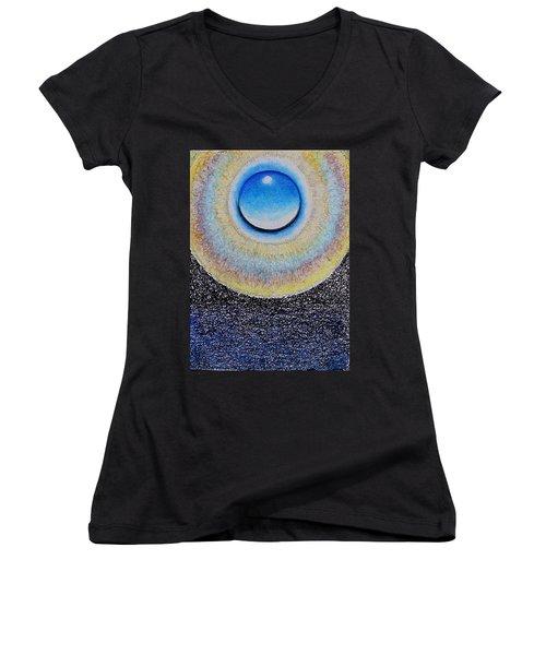 Universal Eye In Blue Women's V-Neck
