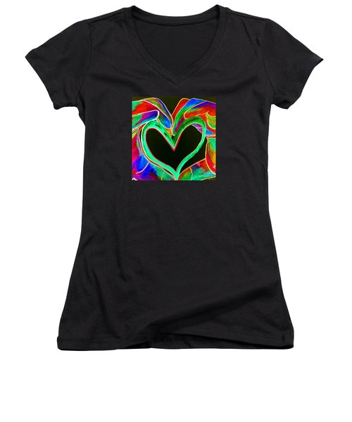 Universal Sign For Love Women's V-Neck T-Shirt