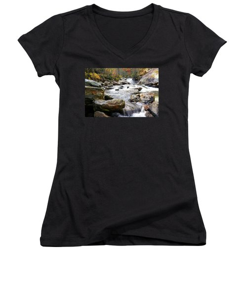 Unnamed Waterfall Women's V-Neck (Athletic Fit)