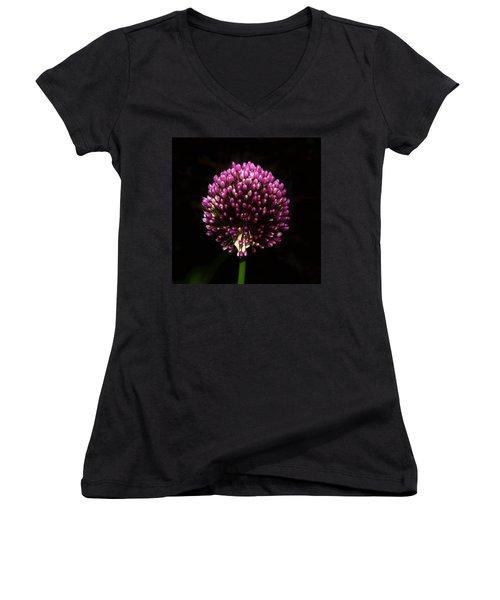 Unopened Allium Women's V-Neck (Athletic Fit)