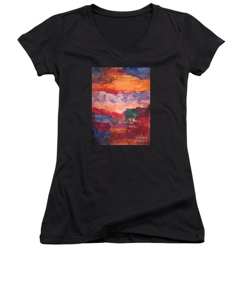 untitled 109 Original Painting Women's V-Neck (Athletic Fit)