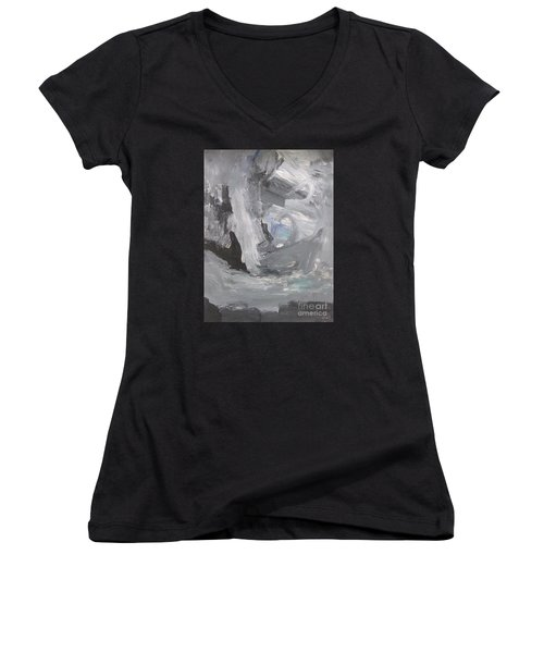 Untitled 124 Original Painting Women's V-Neck (Athletic Fit)