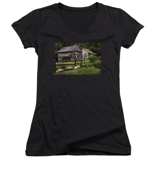 Untitled Cuttalossa Iv Women's V-Neck T-Shirt (Junior Cut)