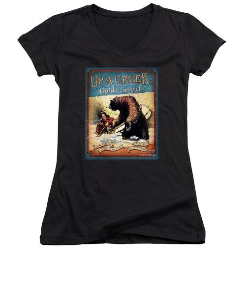 Up A Creek 2 Women's V-Neck T-Shirt (Junior Cut) by JQ Licensing