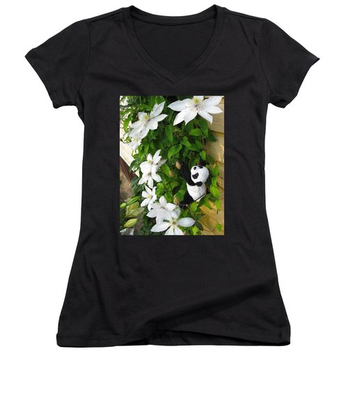 Women's V-Neck T-Shirt (Junior Cut) featuring the photograph Up And Up And Up by Ausra Huntington nee Paulauskaite