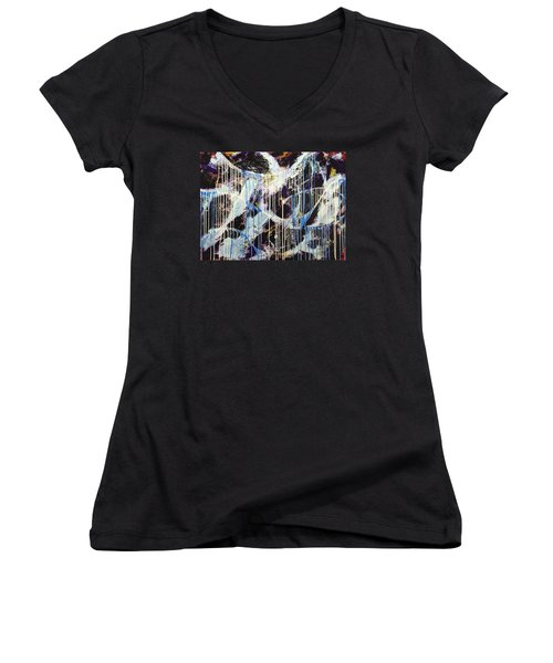 Up In The Air Women's V-Neck T-Shirt (Junior Cut) by Sheila Mcdonald