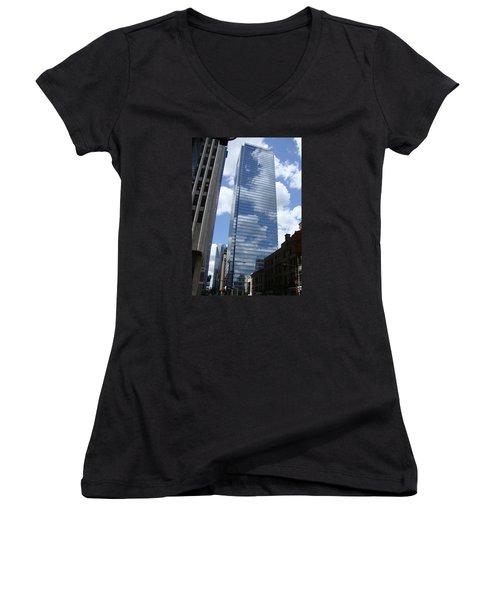 Skyway Women's V-Neck T-Shirt (Junior Cut) by Veronica Rickard